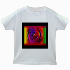 Colors Of My Life Kids White T Shirts