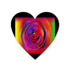 Colors Of My Life Heart Magnet