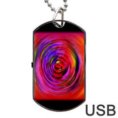 Colors Of My Life Dog Tag USB Flash (Two Sides)