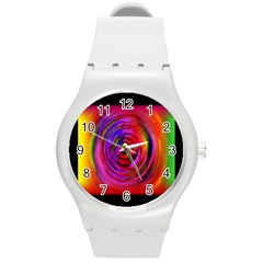 Colors Of My Life Round Plastic Sport Watch (M)