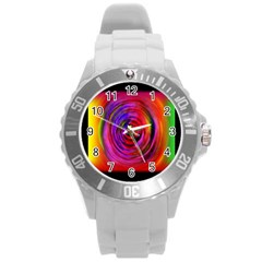 Colors Of My Life Round Plastic Sport Watch (l)