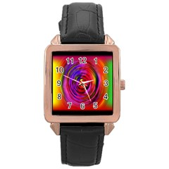 Colors Of My Life Rose Gold Leather Watch