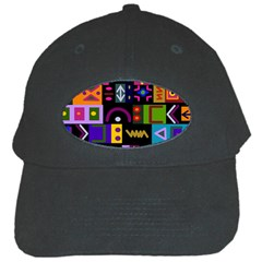 Abstract A Colorful Modern Illustration Black Cap