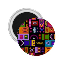 Abstract A Colorful Modern Illustration 2 25  Magnets