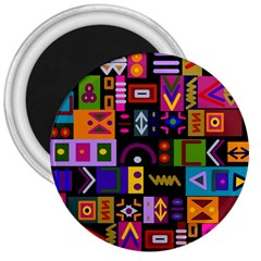 Abstract A Colorful Modern Illustration 3  Magnets
