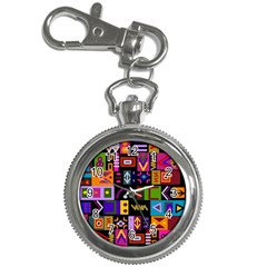 Abstract A Colorful Modern Illustration Key Chain Watches