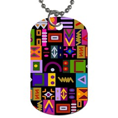 Abstract A Colorful Modern Illustration Dog Tag (Two Sides)