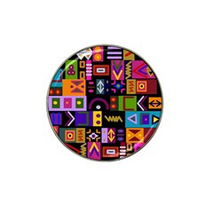 Abstract A Colorful Modern Illustration Hat Clip Ball Marker