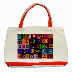 Abstract A Colorful Modern Illustration Classic Tote Bag (red)