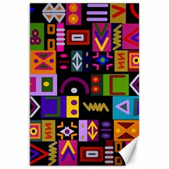 Abstract A Colorful Modern Illustration Canvas 24  X 36
