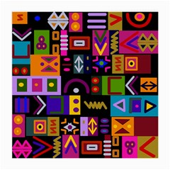 Abstract A Colorful Modern Illustration Medium Glasses Cloth (2 Side)