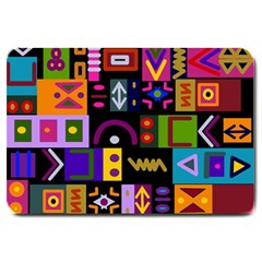 Abstract A Colorful Modern Illustration Large Doormat