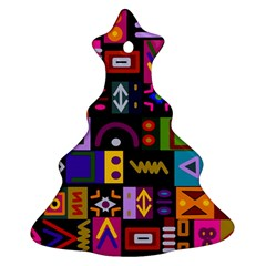 Abstract A Colorful Modern Illustration Christmas Tree Ornament (two Sides)