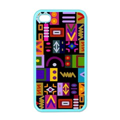 Abstract A Colorful Modern Illustration Apple iPhone 4 Case (Color)