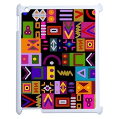 Abstract A Colorful Modern Illustration Apple iPad 2 Case (White)