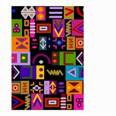 Abstract A Colorful Modern Illustration Small Garden Flag (Two Sides)