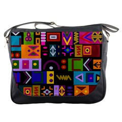 Abstract A Colorful Modern Illustration Messenger Bags