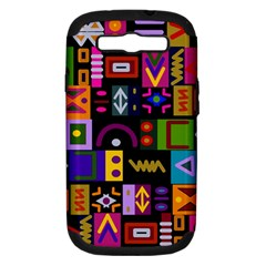 Abstract A Colorful Modern Illustration Samsung Galaxy S III Hardshell Case (PC+Silicone)