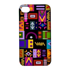 Abstract A Colorful Modern Illustration Apple iPhone 4/4S Hardshell Case with Stand