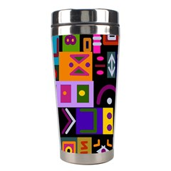 Abstract A Colorful Modern Illustration Stainless Steel Travel Tumblers