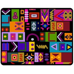 Abstract A Colorful Modern Illustration Double Sided Fleece Blanket (Medium)