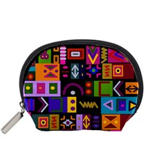Abstract A Colorful Modern Illustration Accessory Pouches (Small)