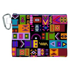 Abstract A Colorful Modern Illustration Canvas Cosmetic Bag (XXL)