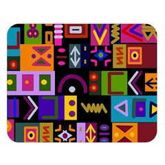 Abstract A Colorful Modern Illustration Double Sided Flano Blanket (Large)