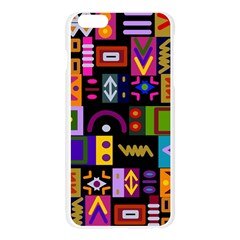 Abstract A Colorful Modern Illustration Apple Seamless iPhone 6 Plus/6S Plus Case (Transparent)