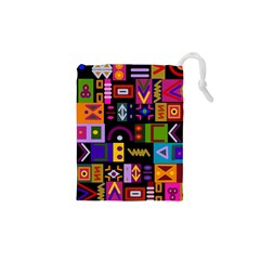 Abstract A Colorful Modern Illustration Drawstring Pouches (xs)