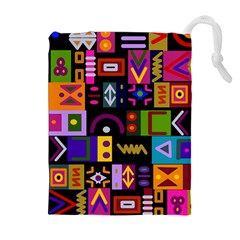 Abstract A Colorful Modern Illustration Drawstring Pouches (Extra Large)