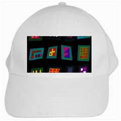 Abstract A Colorful Modern Illustration White Cap