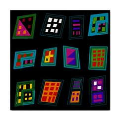 Abstract A Colorful Modern Illustration Tile Coasters