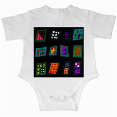 Abstract A Colorful Modern Illustration Infant Creepers