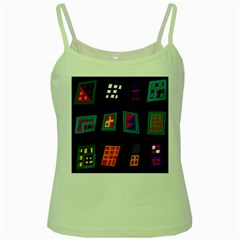 Abstract A Colorful Modern Illustration Green Spaghetti Tank