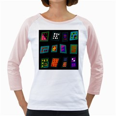 Abstract A Colorful Modern Illustration Girly Raglans