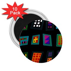 Abstract A Colorful Modern Illustration 2 25  Magnets (10 Pack)