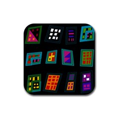 Abstract A Colorful Modern Illustration Rubber Coaster (Square)