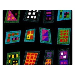 Abstract A Colorful Modern Illustration Rectangular Jigsaw Puzzl