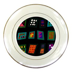 Abstract A Colorful Modern Illustration Porcelain Plates