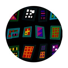 Abstract A Colorful Modern Illustration Round Ornament (two Sides)