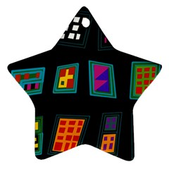 Abstract A Colorful Modern Illustration Star Ornament (two Sides)