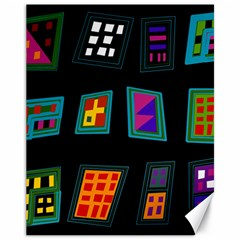 Abstract A Colorful Modern Illustration Canvas 11  X 14