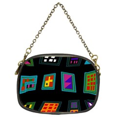Abstract A Colorful Modern Illustration Chain Purses (two Sides)