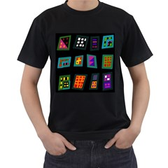 Abstract A Colorful Modern Illustration Men s T Shirt (black)