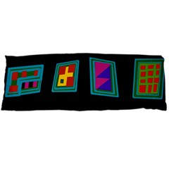 Abstract A Colorful Modern Illustration Body Pillow Case Dakimakura (Two Sides)