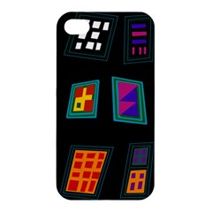 Abstract A Colorful Modern Illustration Apple iPhone 4/4S Premium Hardshell Case