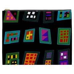Abstract A Colorful Modern Illustration Cosmetic Bag (XXXL)