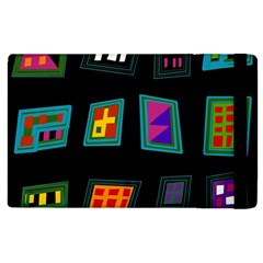 Abstract A Colorful Modern Illustration Apple iPad 2 Flip Case