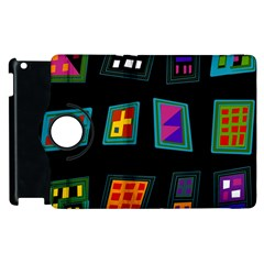 Abstract A Colorful Modern Illustration Apple Ipad 2 Flip 360 Case
